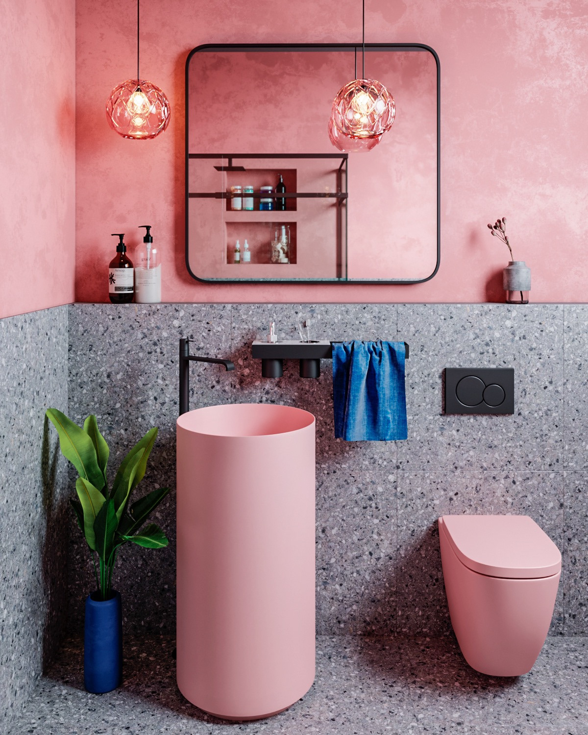 pink bathroom sink
