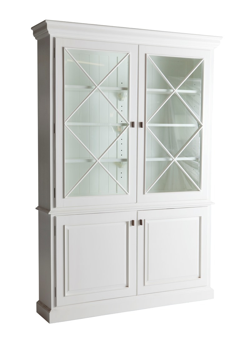 products BGC WT Barraux Glass Cabinet White