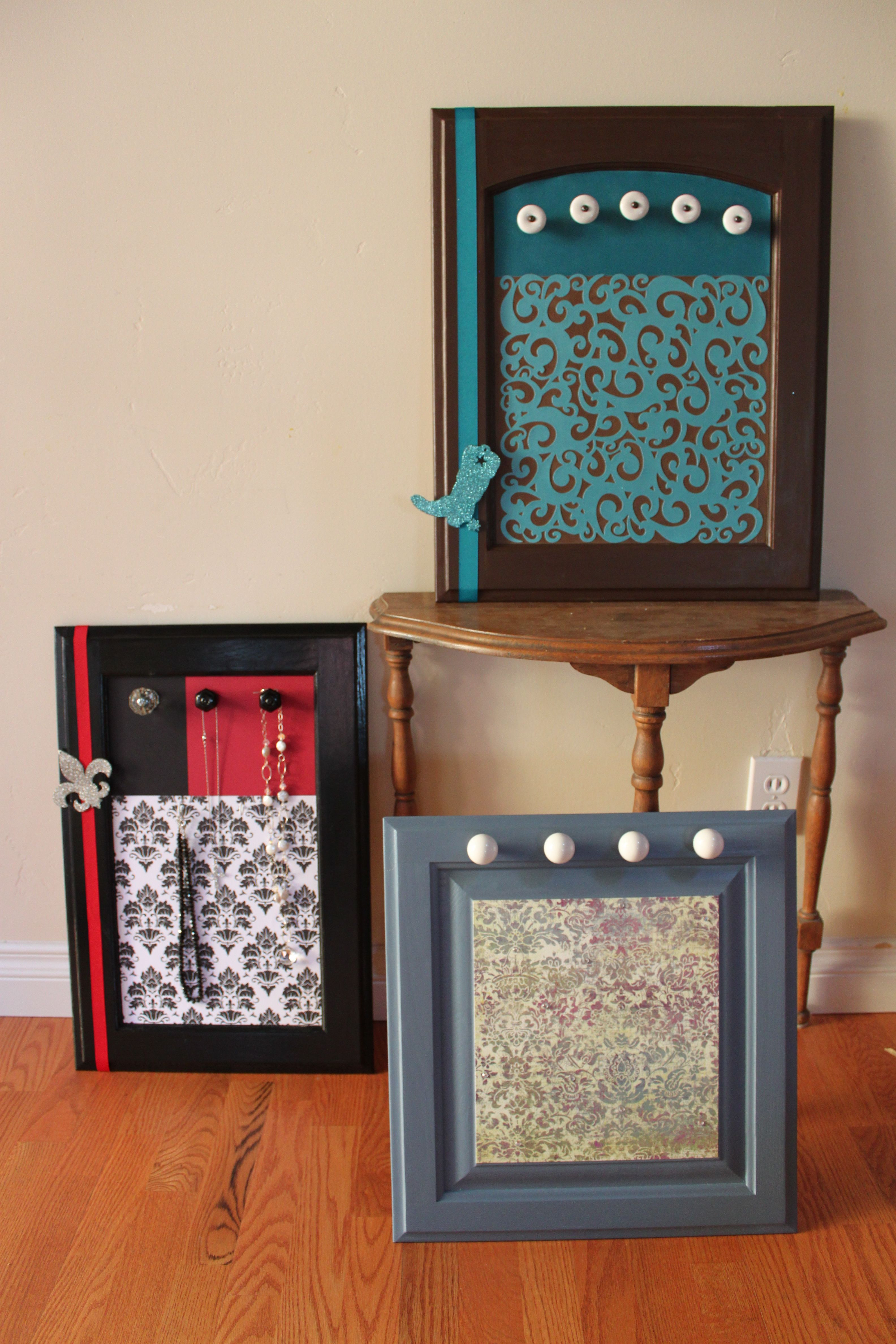 Cabinet Door Makeover Fresh Jewelry Display Boards Made From Repurposed Kitchen Cabinet
