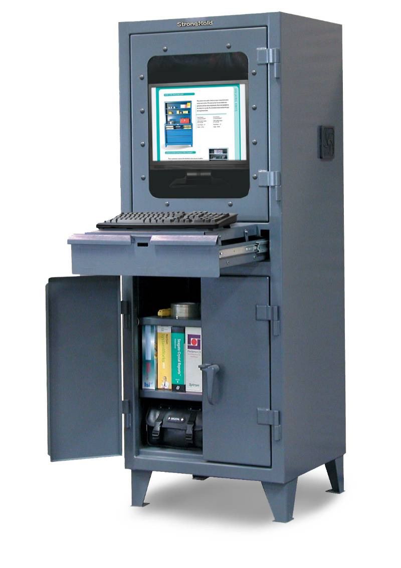 industrial puter cabinet with retractable keyboard