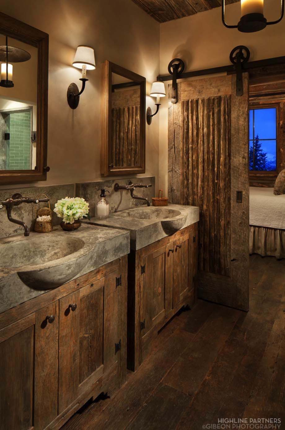 01 rustic bathroom design decor ideas homebnc