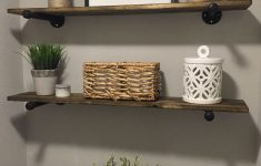 Decorate Bathroom Shelves Beautiful Love The Simplicity Of How They Decorated The Floating