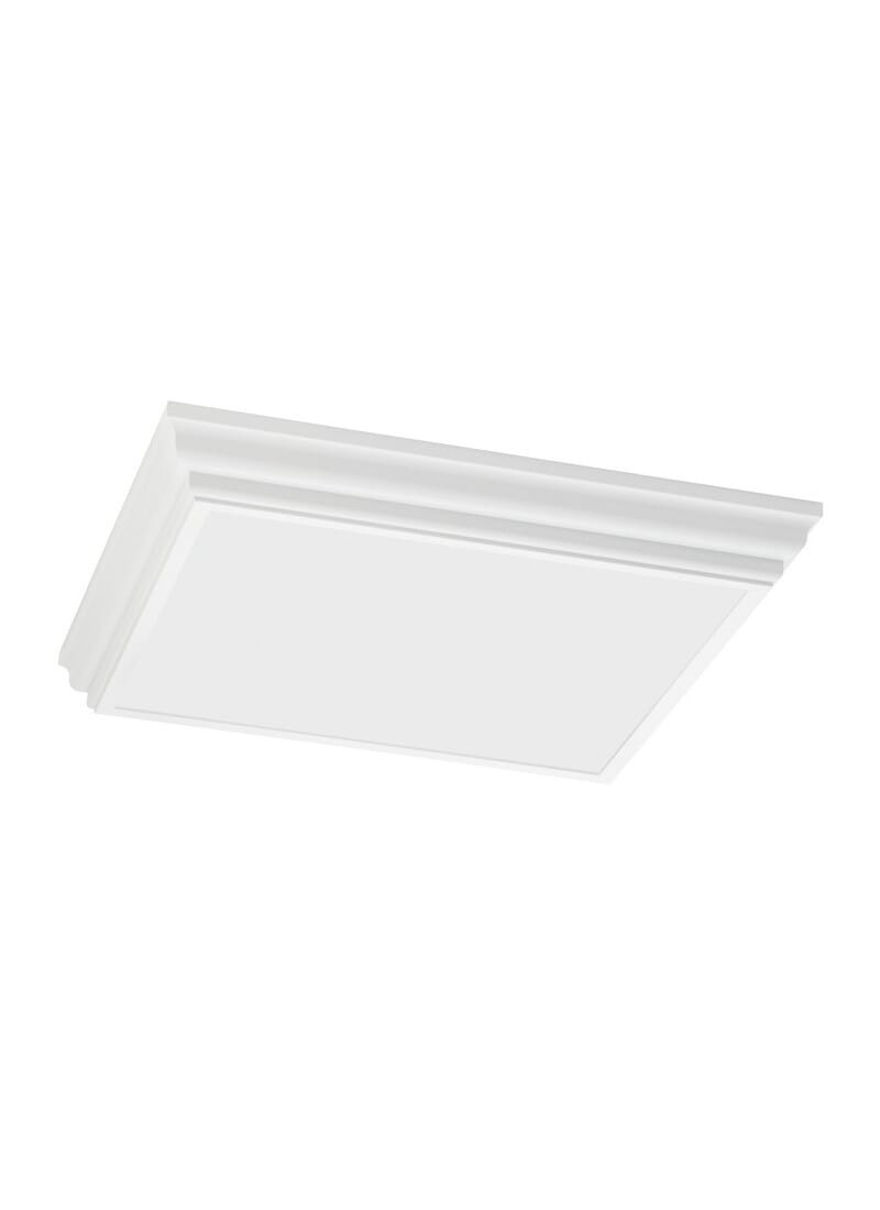 """Decorative Bathroom Exhaust Fan with Light Beautiful Sea Gull Decorative Drop Lens Fluorescent 4 Light 28"""" Ceiling Light In White"""