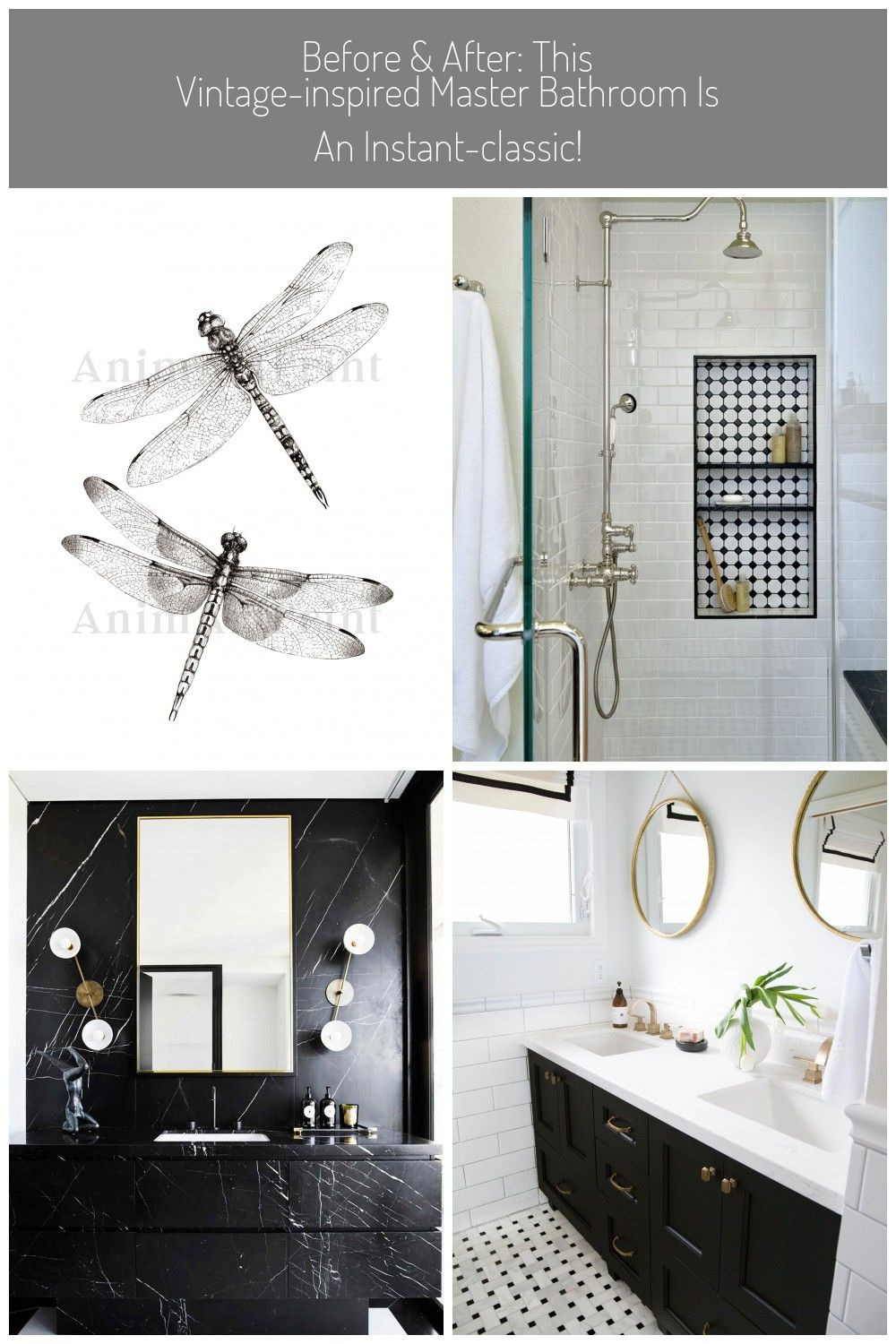 Dragonfly Bathroom Decor Lovely before after This Vintage Inspired Master Bathroom is An