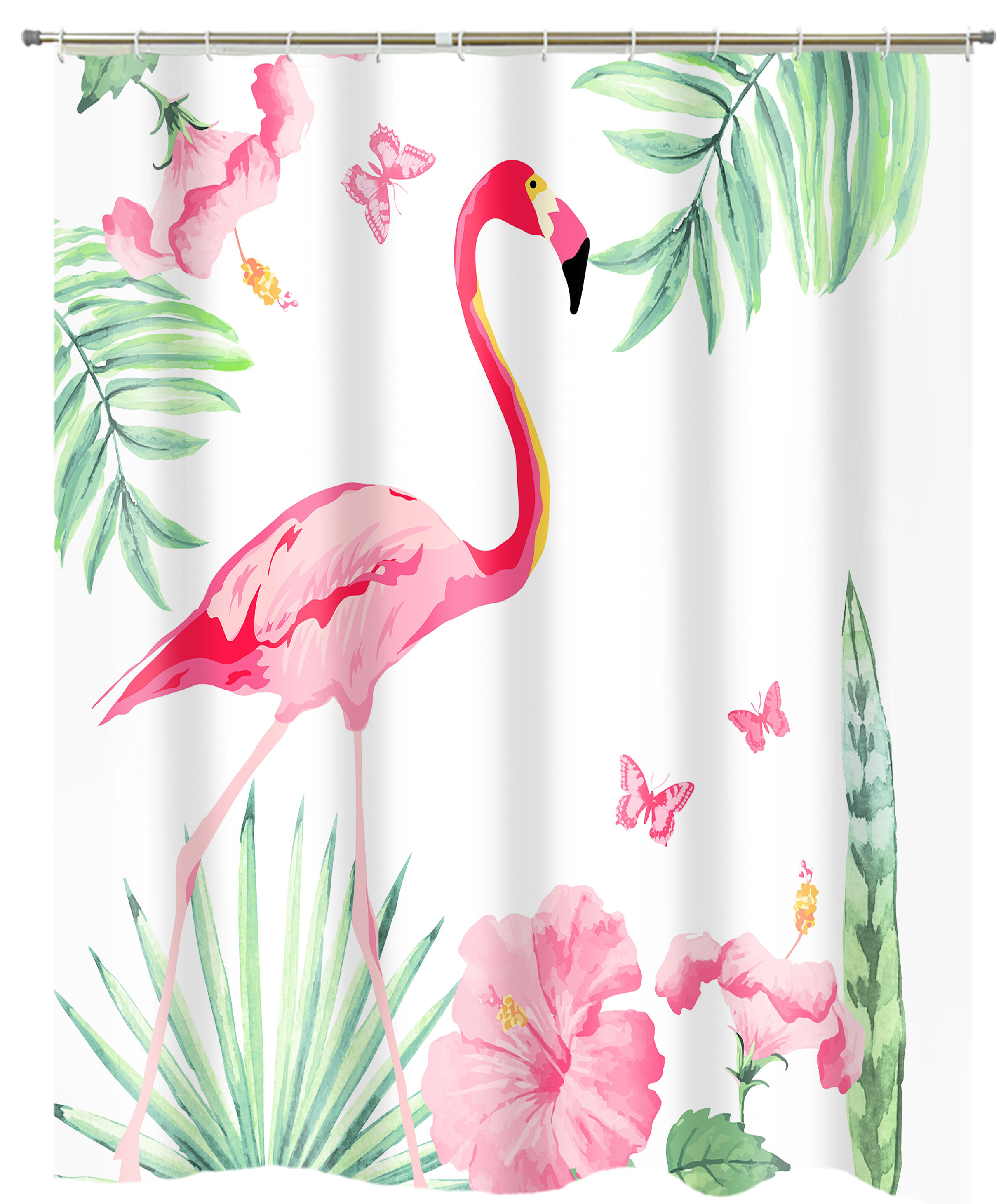 eilis flamingo single shower curtain