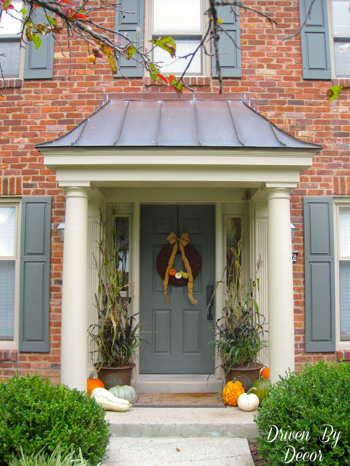 Front Entrance Roof Designs Inspirational Decorating My Front Porch for Fall