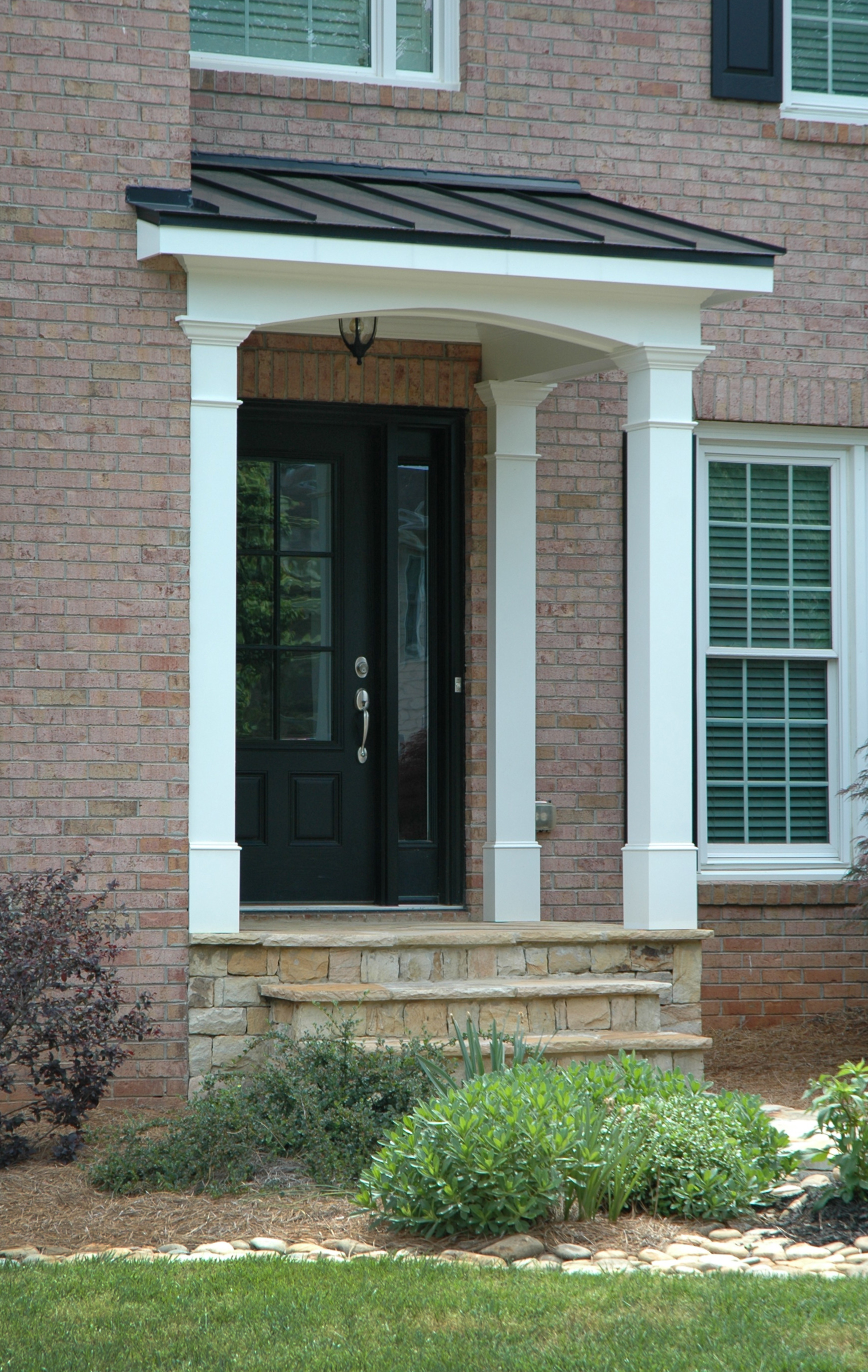 Front Entrance Roof Designs Lovely Small Porch Roof Plans and Chimney Ever Simple Framing
