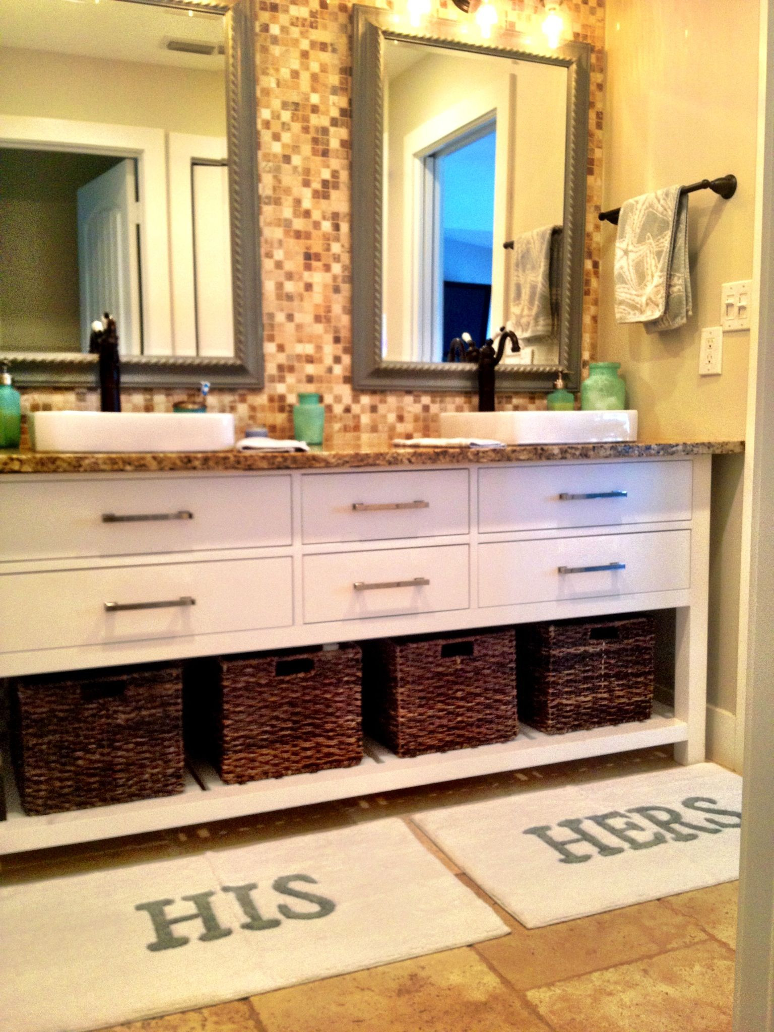 His and Hers Bathroom Decor Fresh Cute His Her Bathroom Love the Rugs and Basket Idea