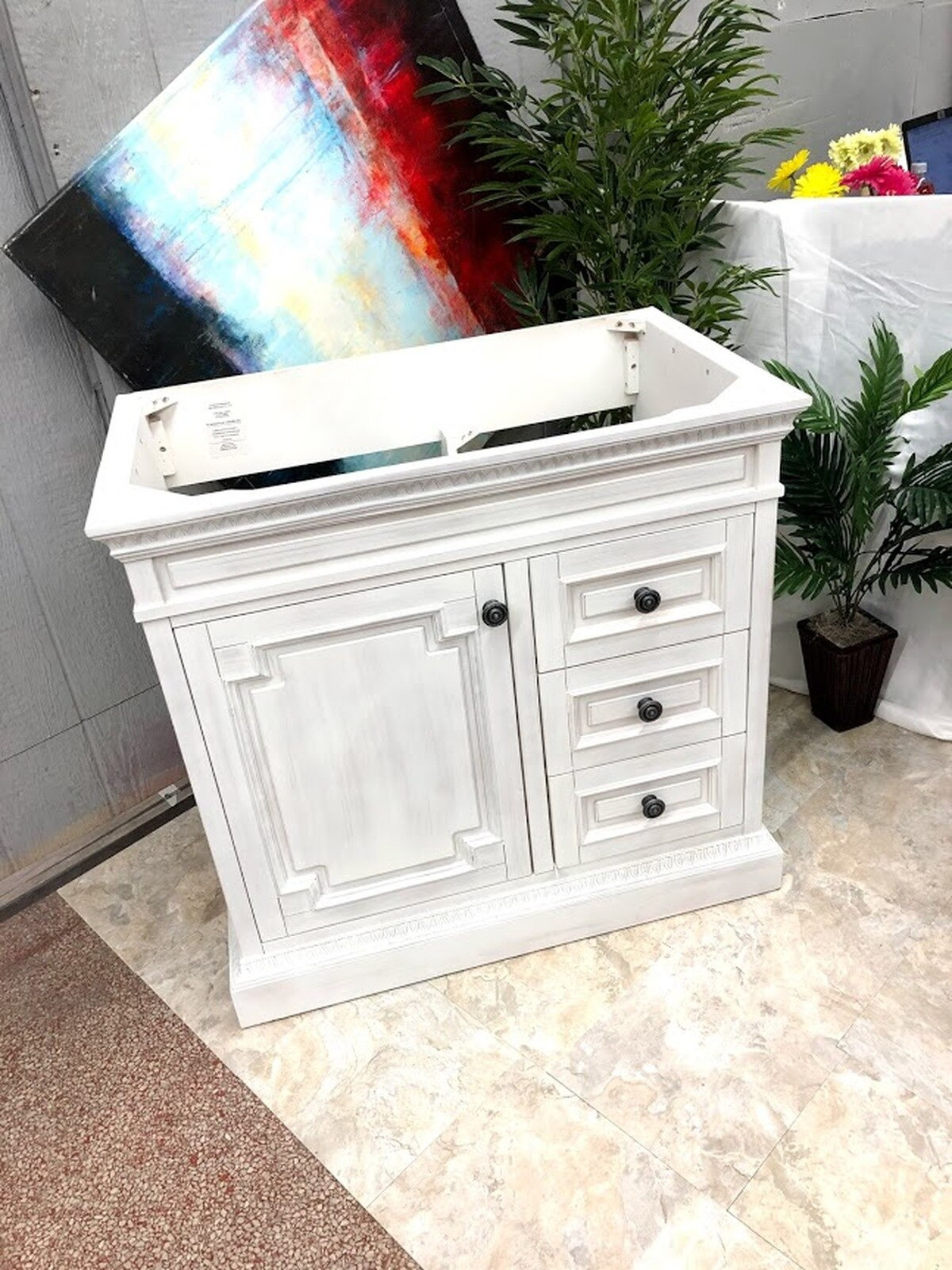 home decorators collection cailla 36 bath vanity cabinet whitewash cabinet only