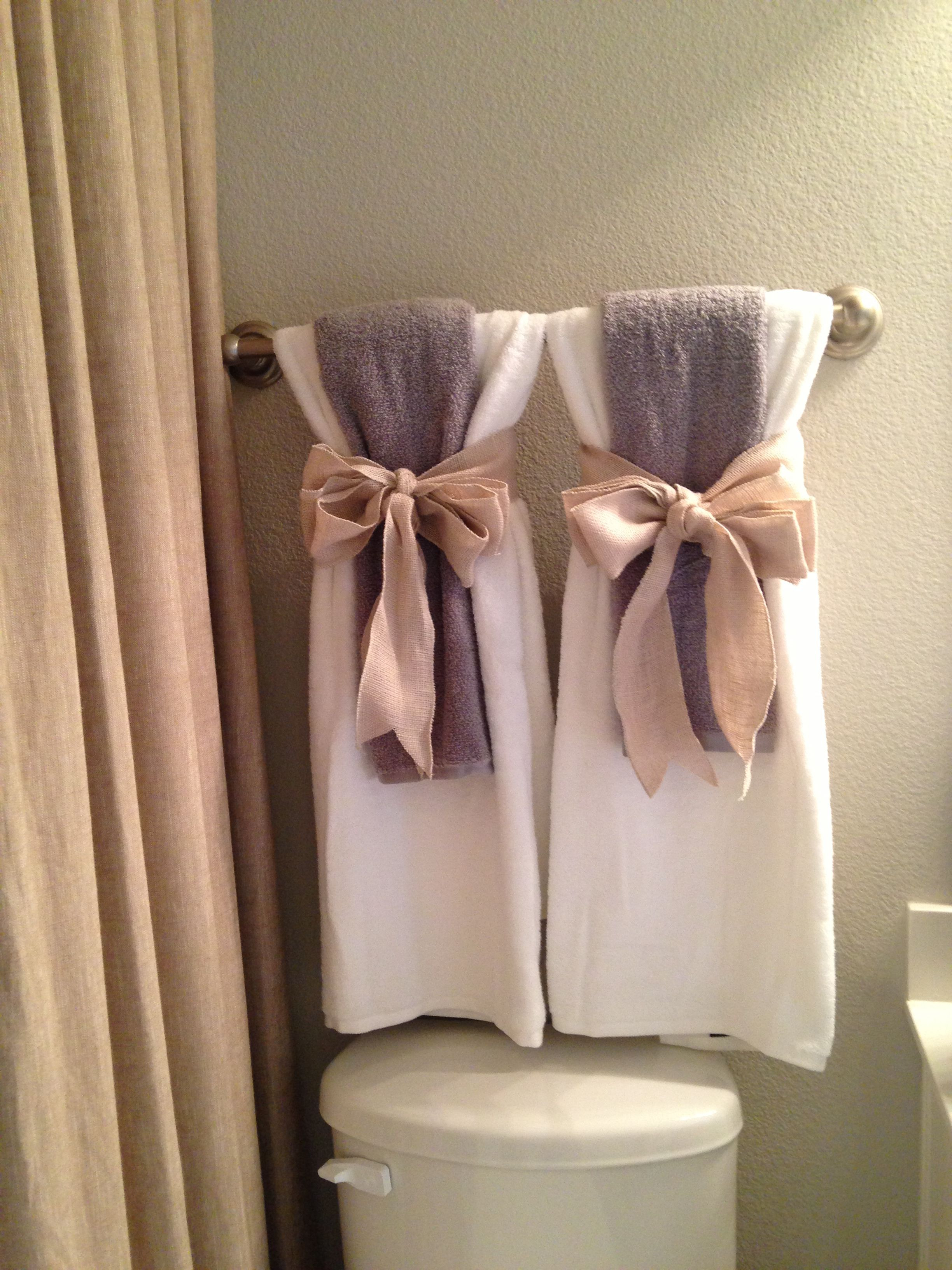 How to Decorate Bathroom towels Awesome Show towels …