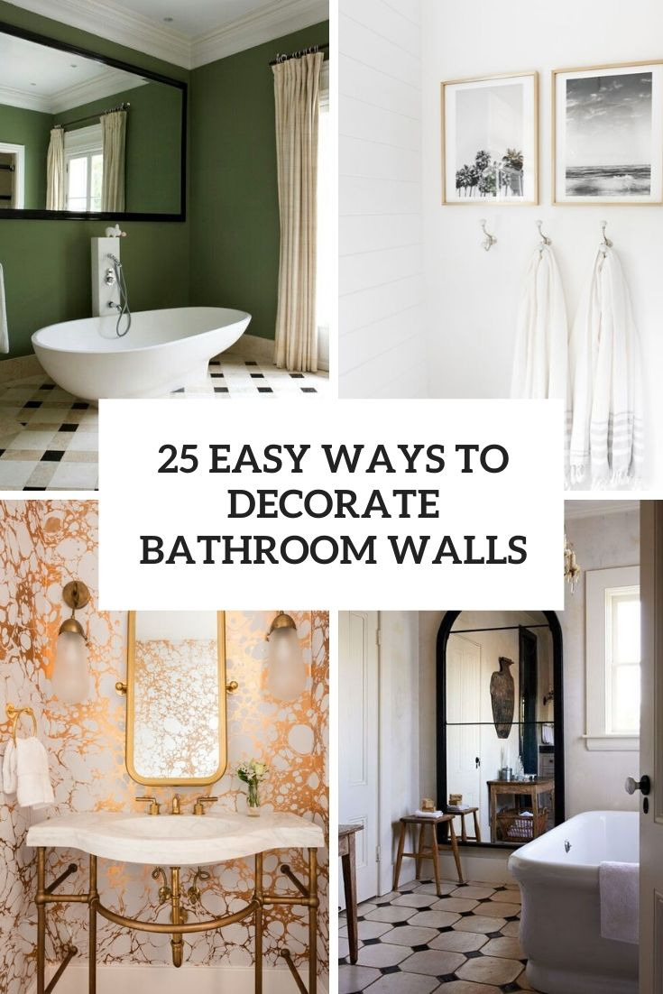25 easy ways to decorate bathroom walls cover