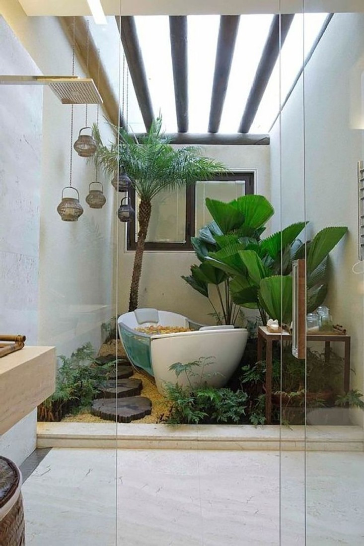 Incredible Jungle Bathroom Decor Ideas to Refresh Washroom 4