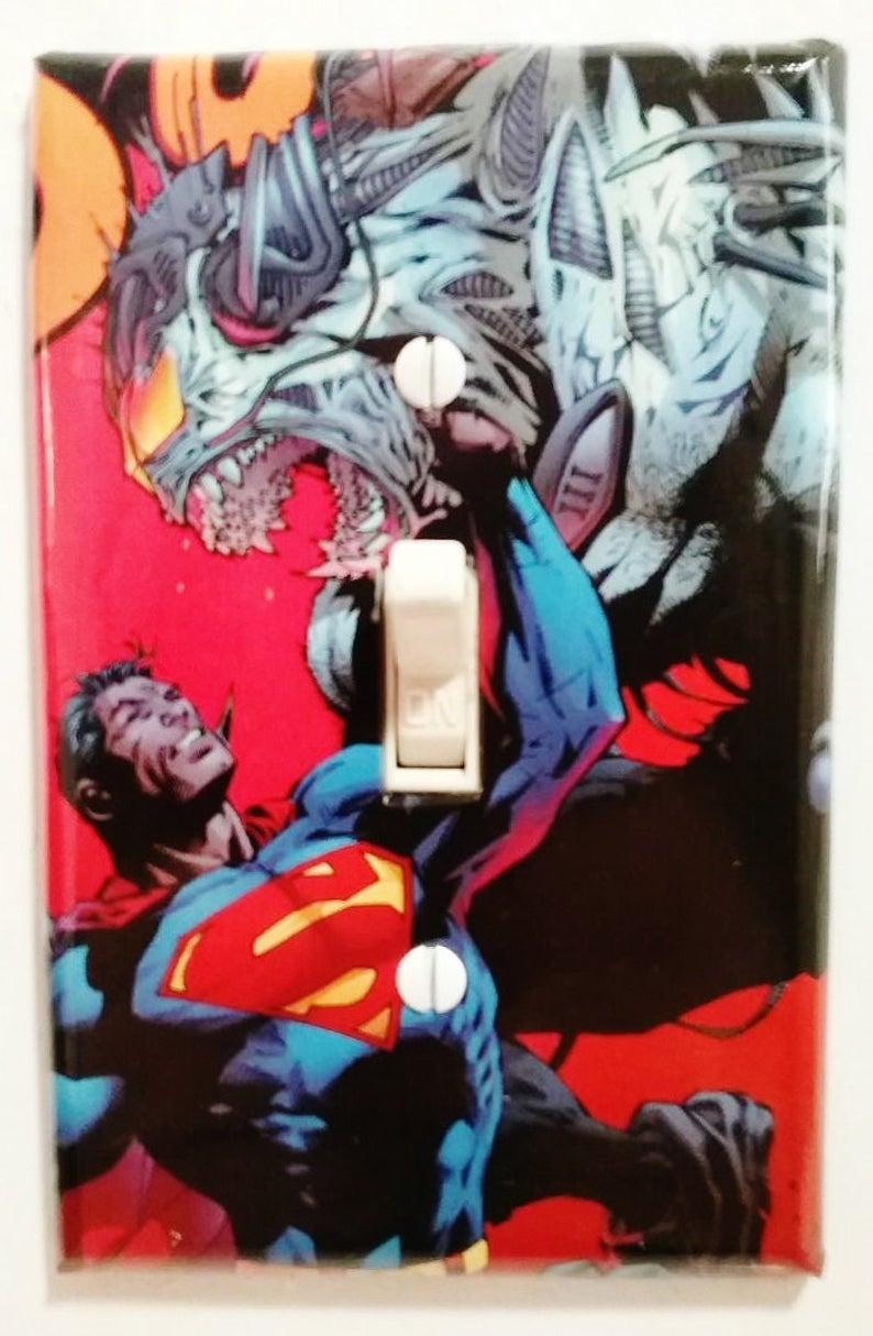 Justice League Bathroom Decor Luxury Superman Vs Equus Dc Ics Light Switch Cover Bedroom Dorm Den Home theater Bathroom Decoration Free Shipping In the United States