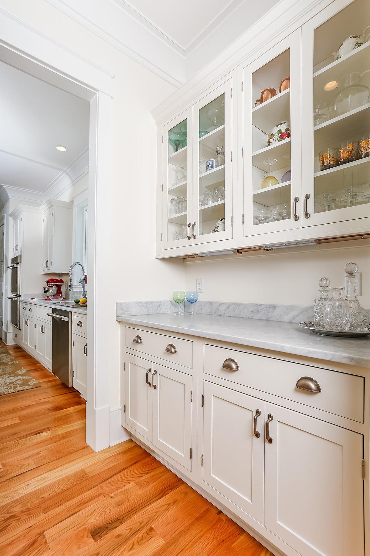 austin painted white butlers pantry cabinets