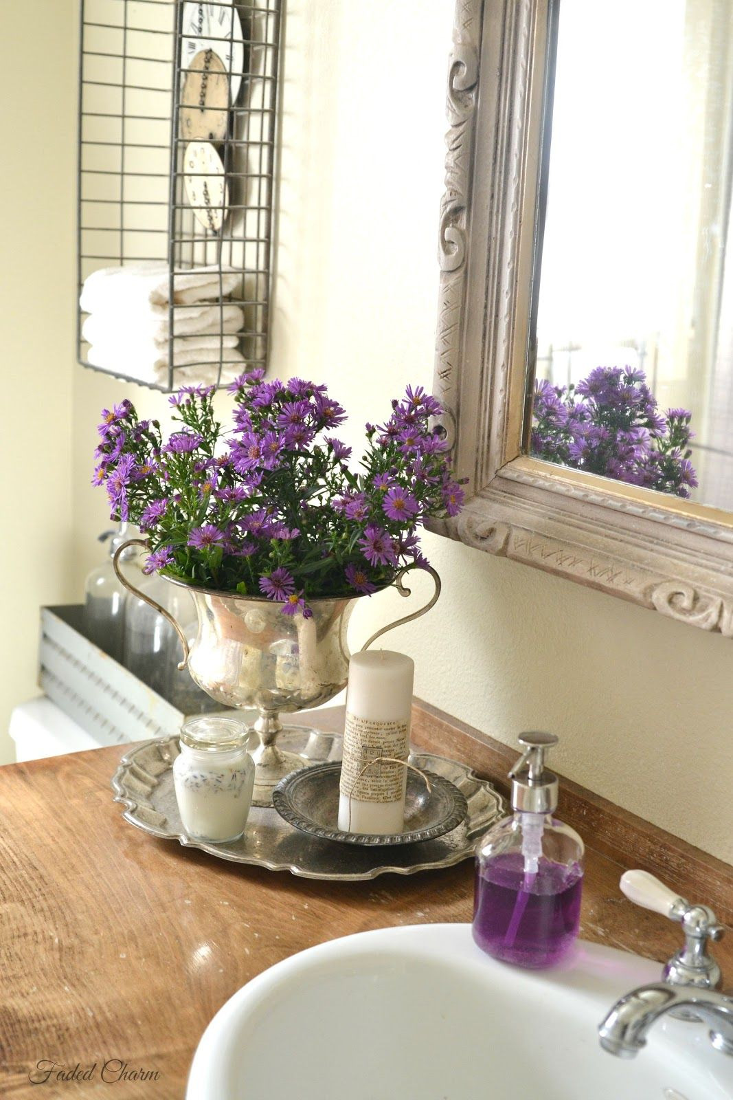 Lilac Bathroom Decor Awesome Faded Charm End Of Summer Blooms