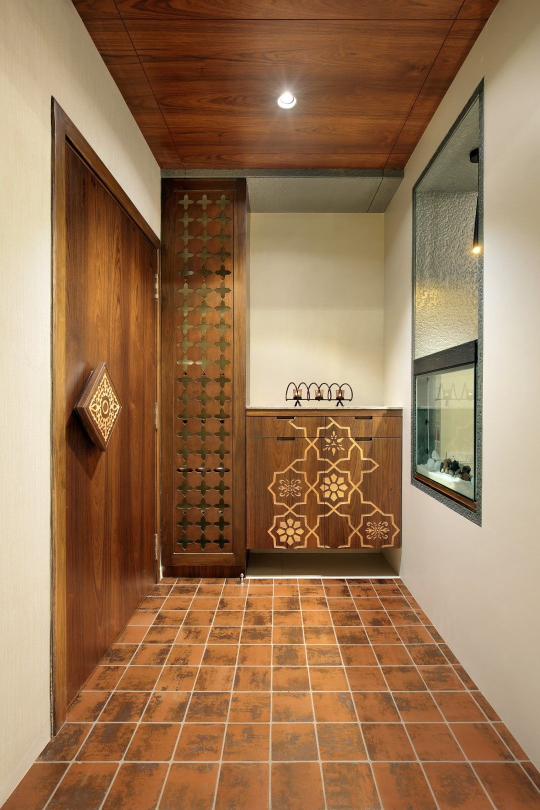 Main Entrance Design Ideas Elegant Fusion Design Of Apartment is Aesthetically Appealing