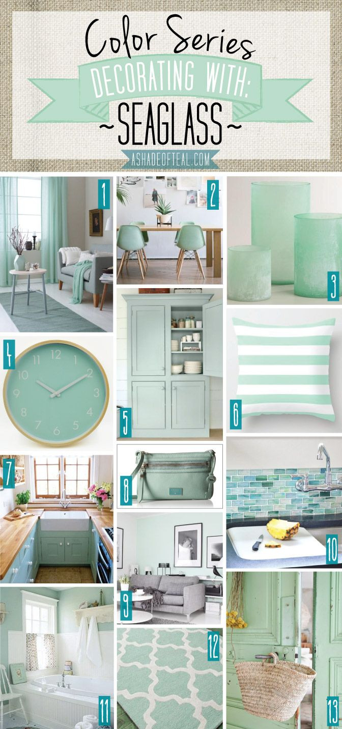 Mint Bathroom Decor Beautiful Color Series Decorating with Seaglass Seaglass Mint