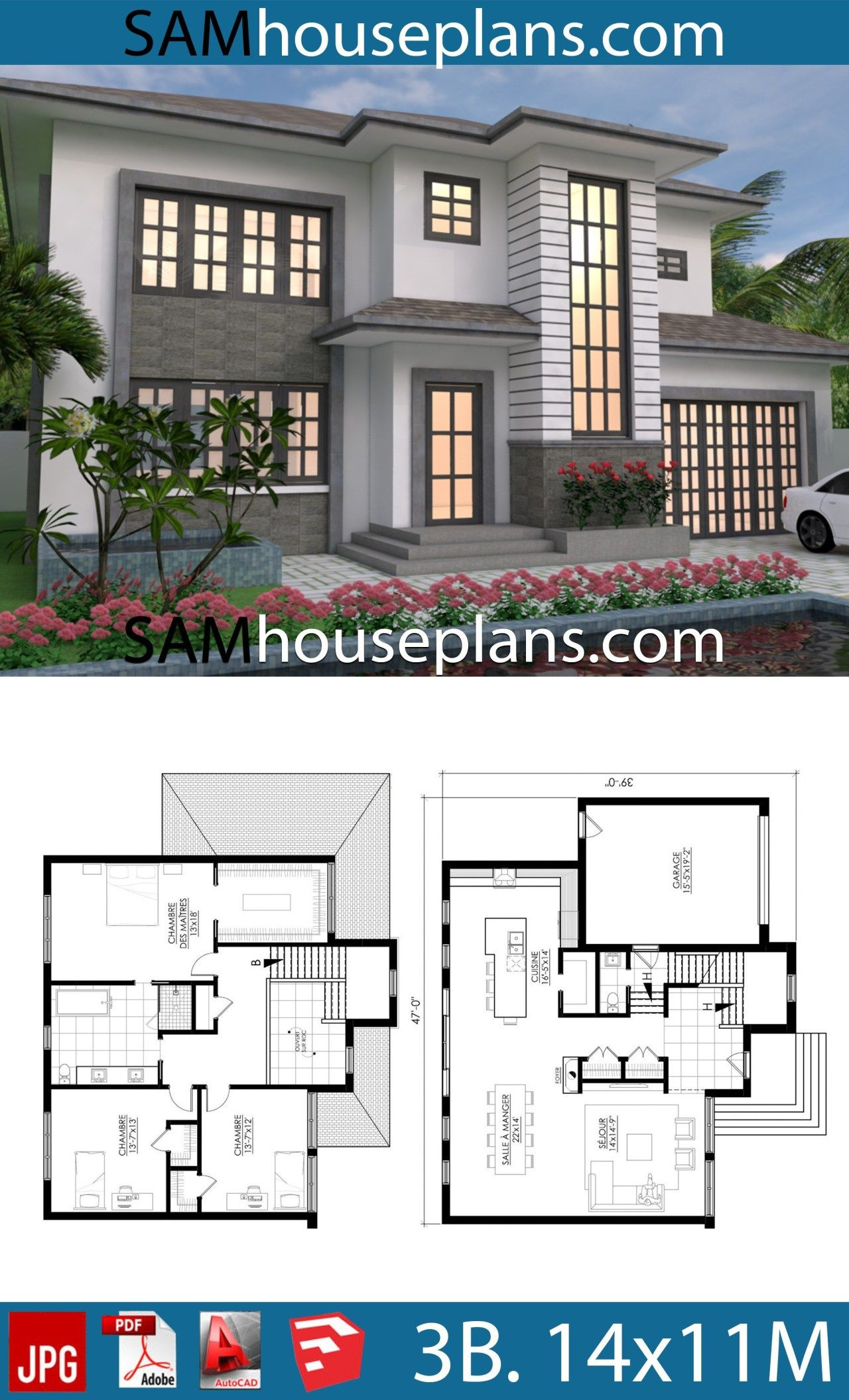 Modern African House Plans Luxury House Plans 14x11 with 3 Bedrooms