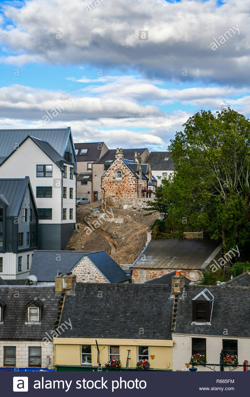 New Beautiful Houses Images Best Of Scotland Inverness City Old Building Bustling Between New