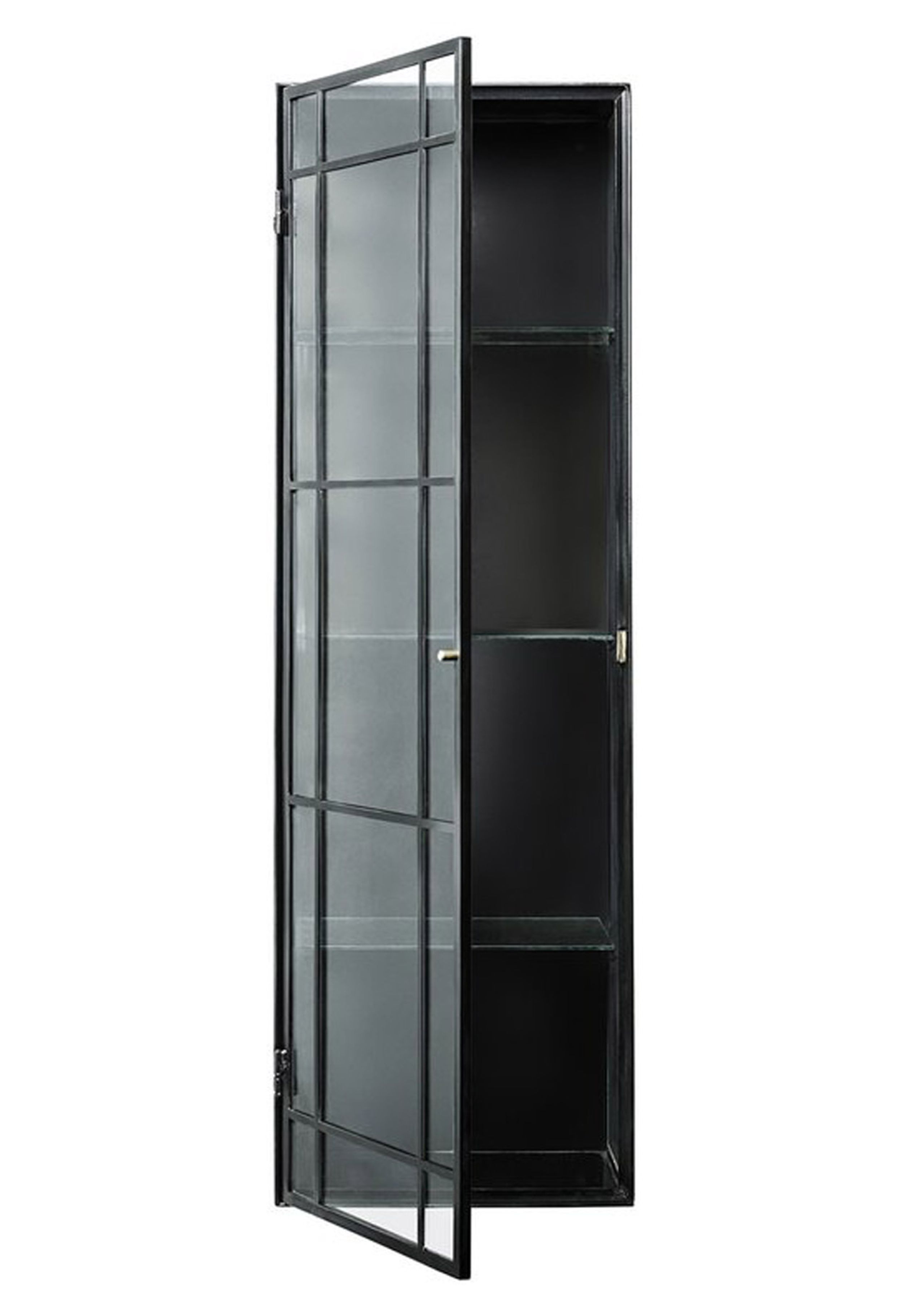 louise roe skab louise roe frame cabinet one door black iron w glass