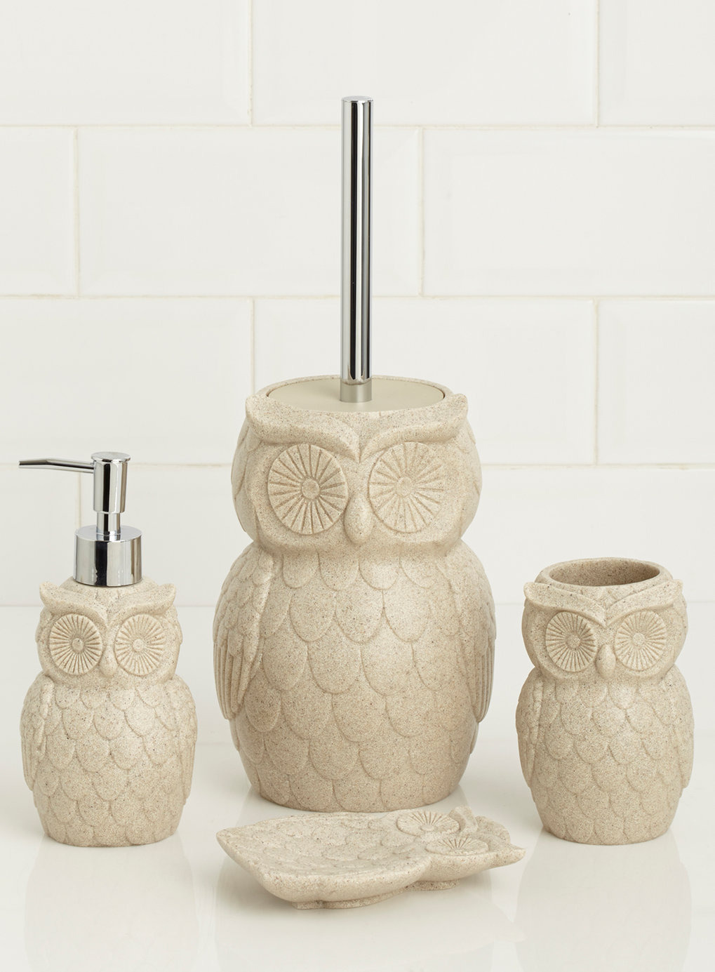 stylish owl bathroom accessories
