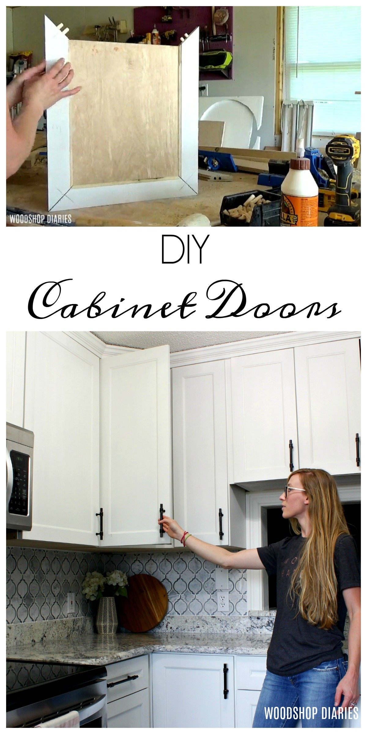 How to make DIY cabinet doors Pin Image
