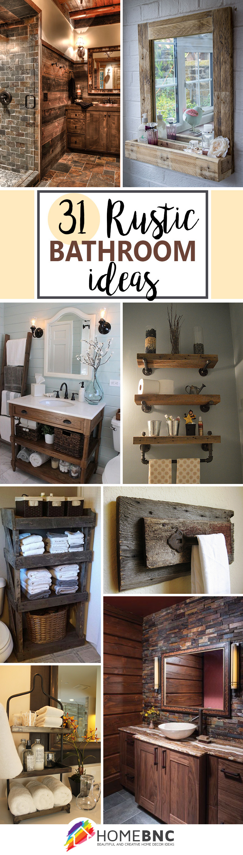 rustic bathroom design decor ideas pinterest share homebnc