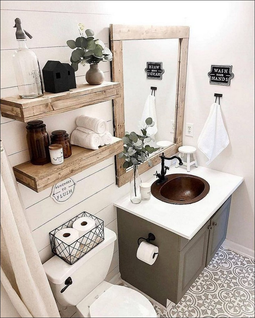 51 Best Rustic Bathroom Decor Ideas You Must Trying 45 25