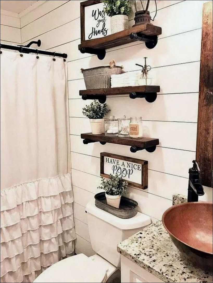 51 best rustic bathroom decor ideas you must trying 45 35