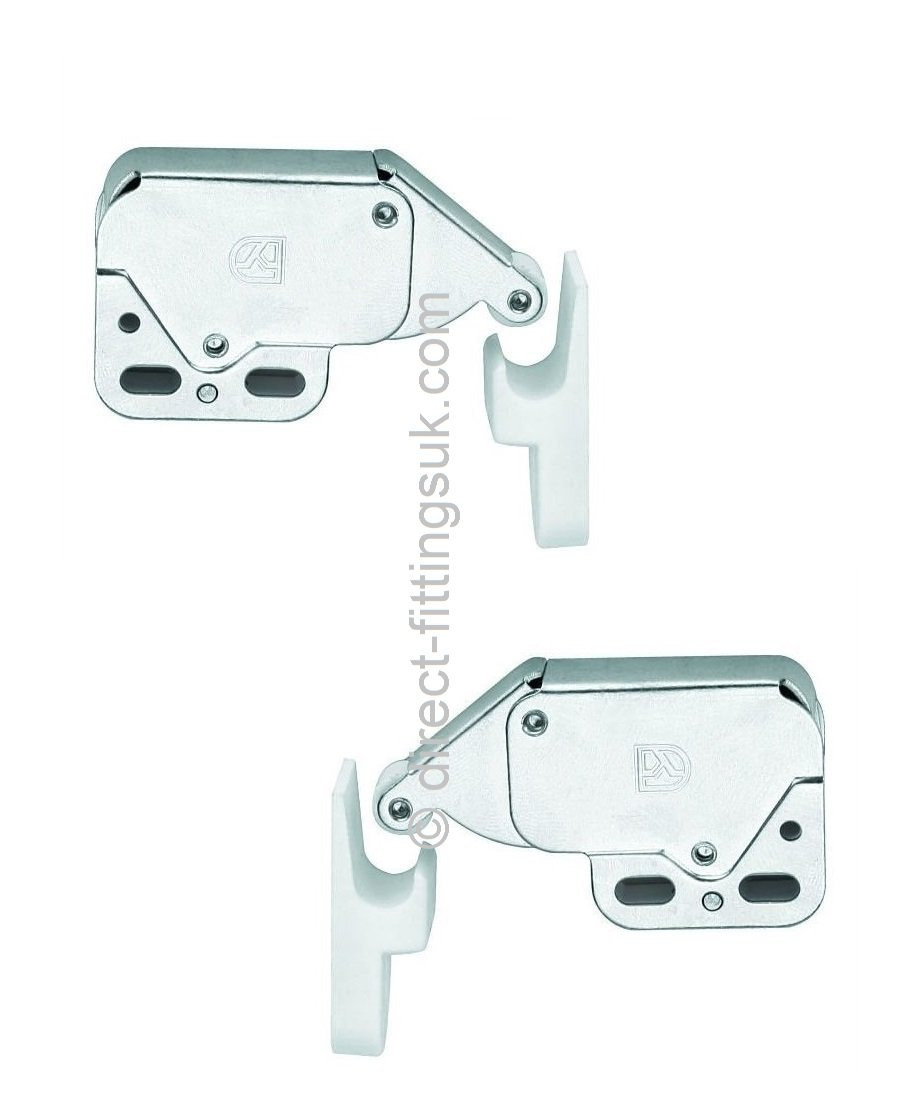 Rv Cabinet Door Latches Lovely 2x Mini Tip Push to Open Catches White Chrome Non Magnetic