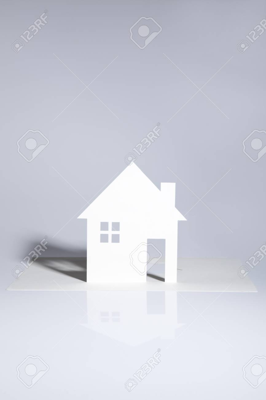 Simple Model House Picture Beautiful Simple Model House Silhouette Cut Ouf Of Paper