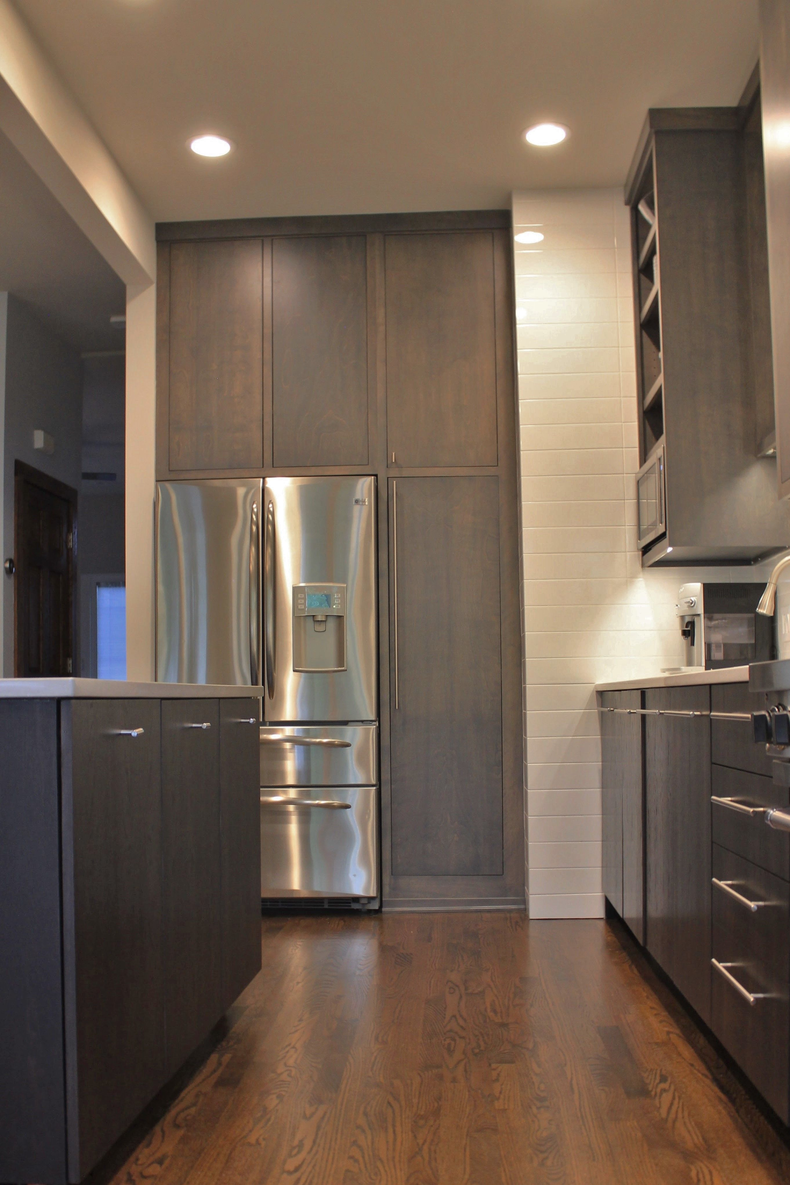 Slab Door Kitchen Cabinets Best Of Gray Stained Flat Slab Doors Frameless Cabinets