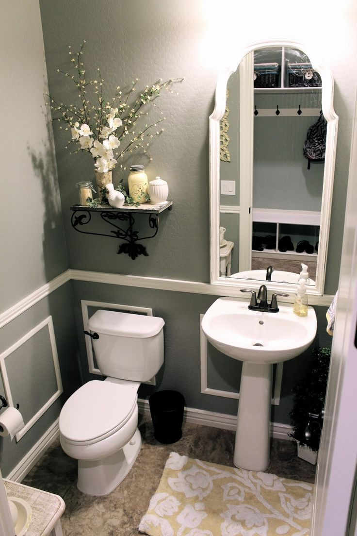 small bathroom decorating ideas on tight bud valspar wet cement gray bathroom little bit of paint remodeled their bathroom on a tight bud it looks like a pletely new room