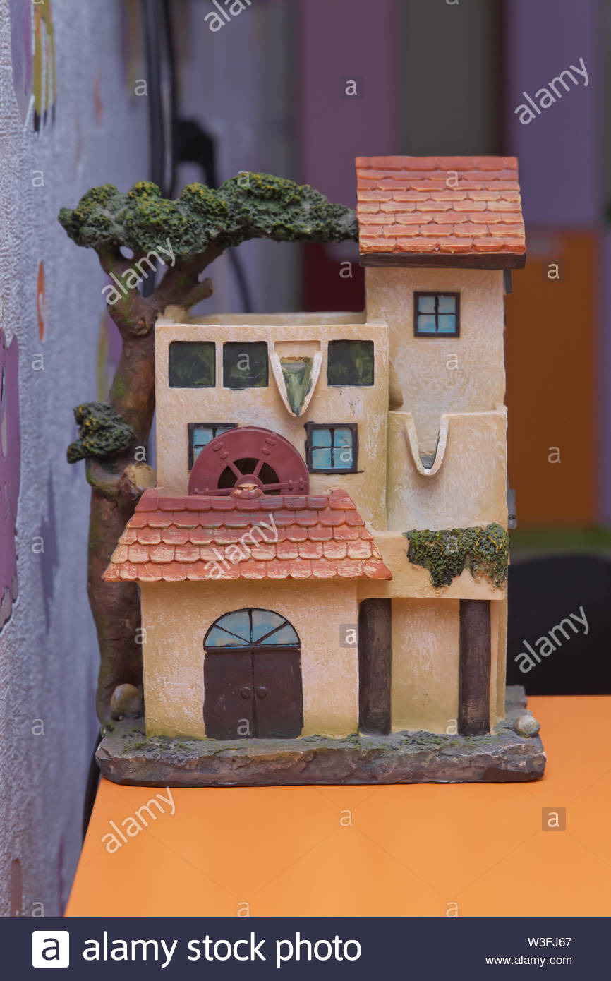 Small House Model Photos Inspirational Small House Model Over Wooden Table Outdoors Living Room