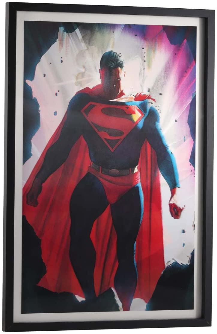 Superman Bathroom Decor Elegant Open Road Brands Dc Ics 3d Vintage Superman Lenticular Framed Wall Decor Justice League Ficially Licensed Product Made with Polycarbonate