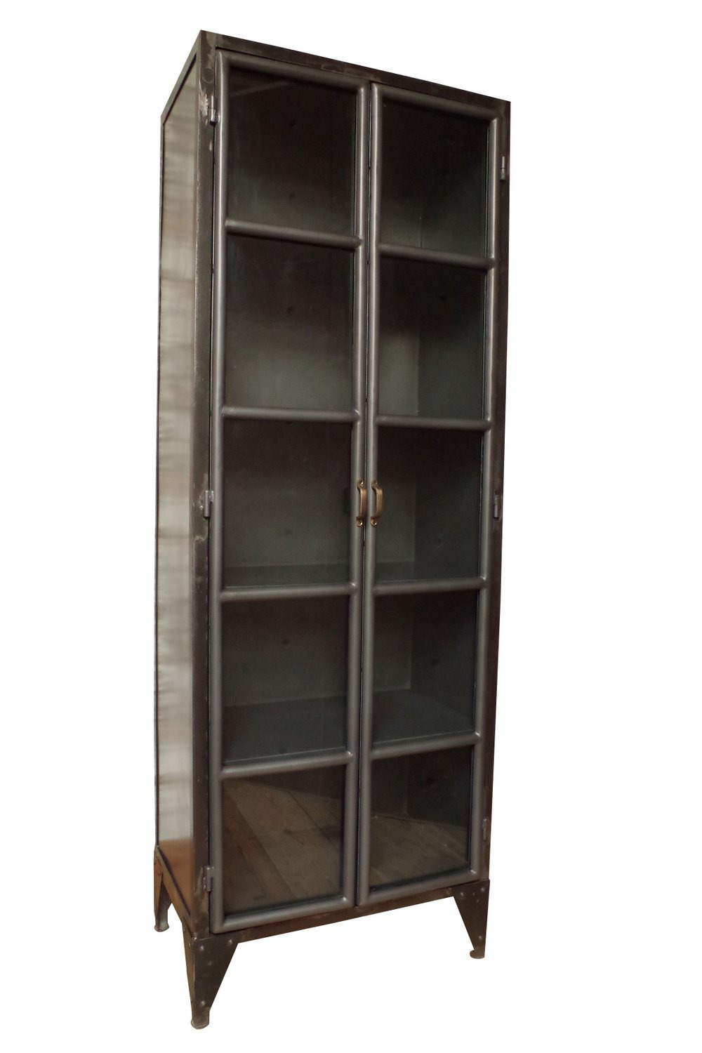 Industrial Iron and Glass Cupboard Cut Out 1000x