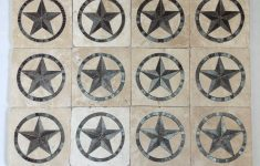 Texas Star Bathroom Decor Best Of 6x6 Tumbled Travertine With Texas Star Inserts For