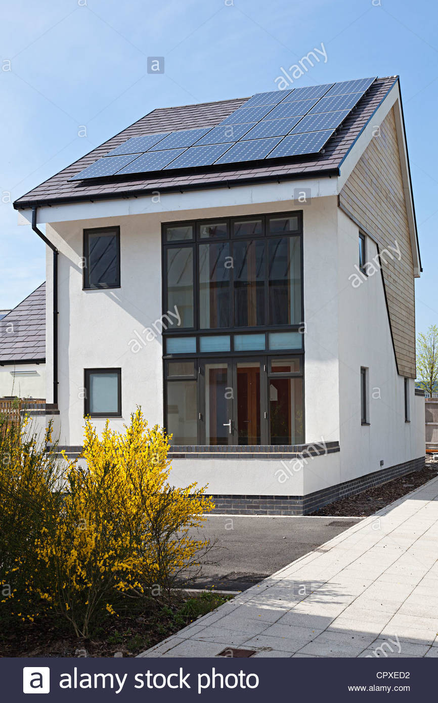 low energy modern house at the works ebbw vale wales uk CPXED2
