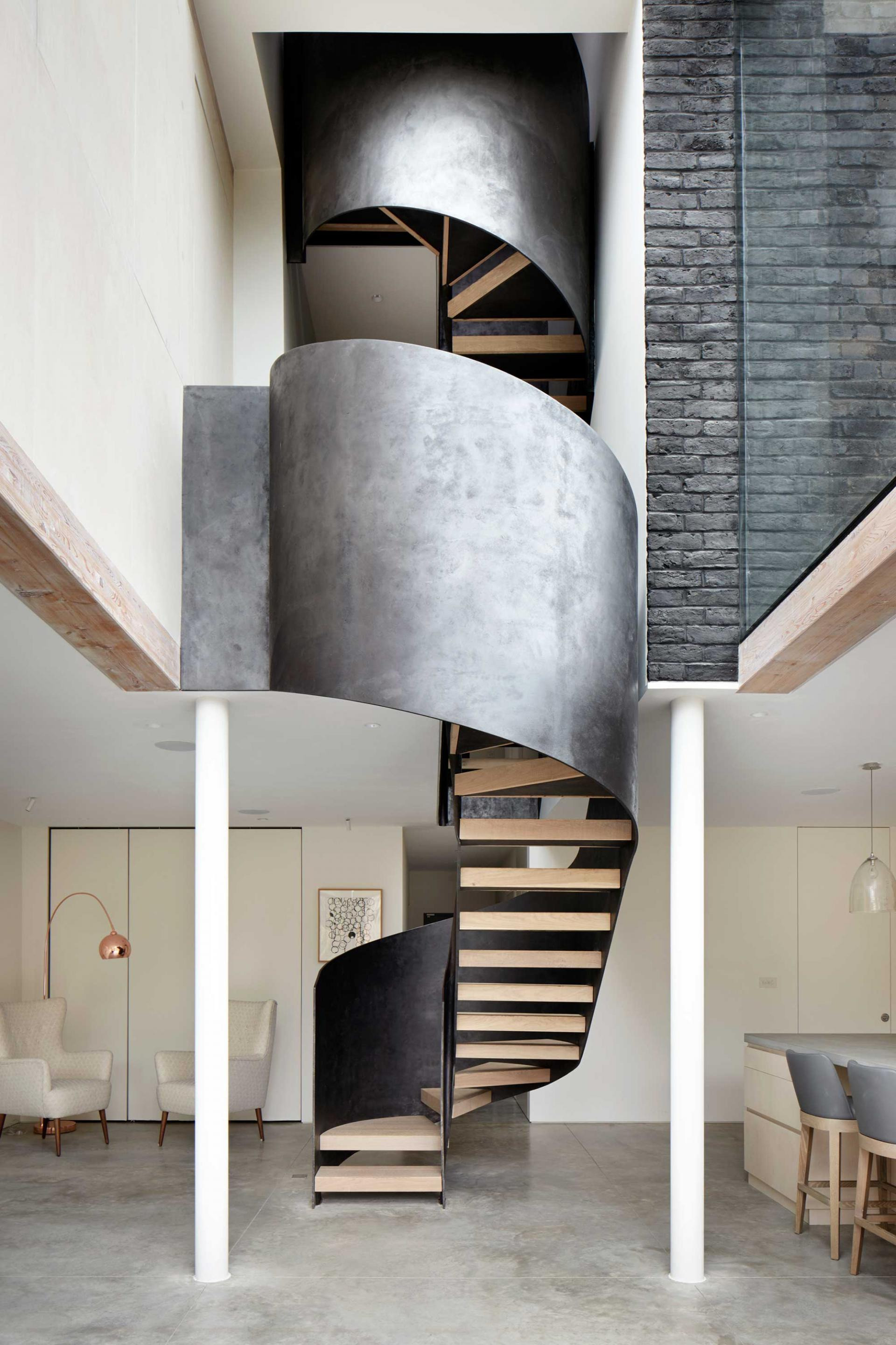 statement staircases de beauvoir house hackney