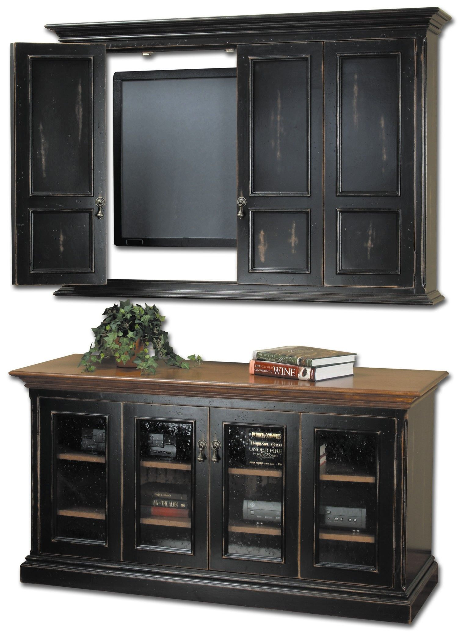 Tv Cabinets with Glass Doors Elegant Wooden Cabinets with Glass Doors
