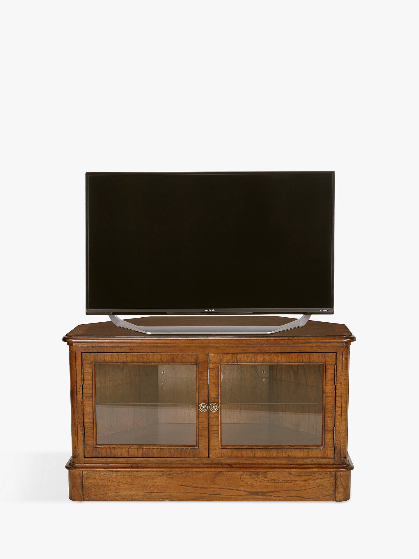 Tv Cabinets with Glass Doors Unique John Lewis & Partners Hemingway Corner Tv Stand for Tvs Up to 43