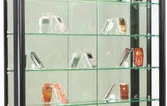 Wall Mounted Cabinet With Glass Doors Unique 3x3 Wall Mounted Display Case W Slider Doors & Mirror Back