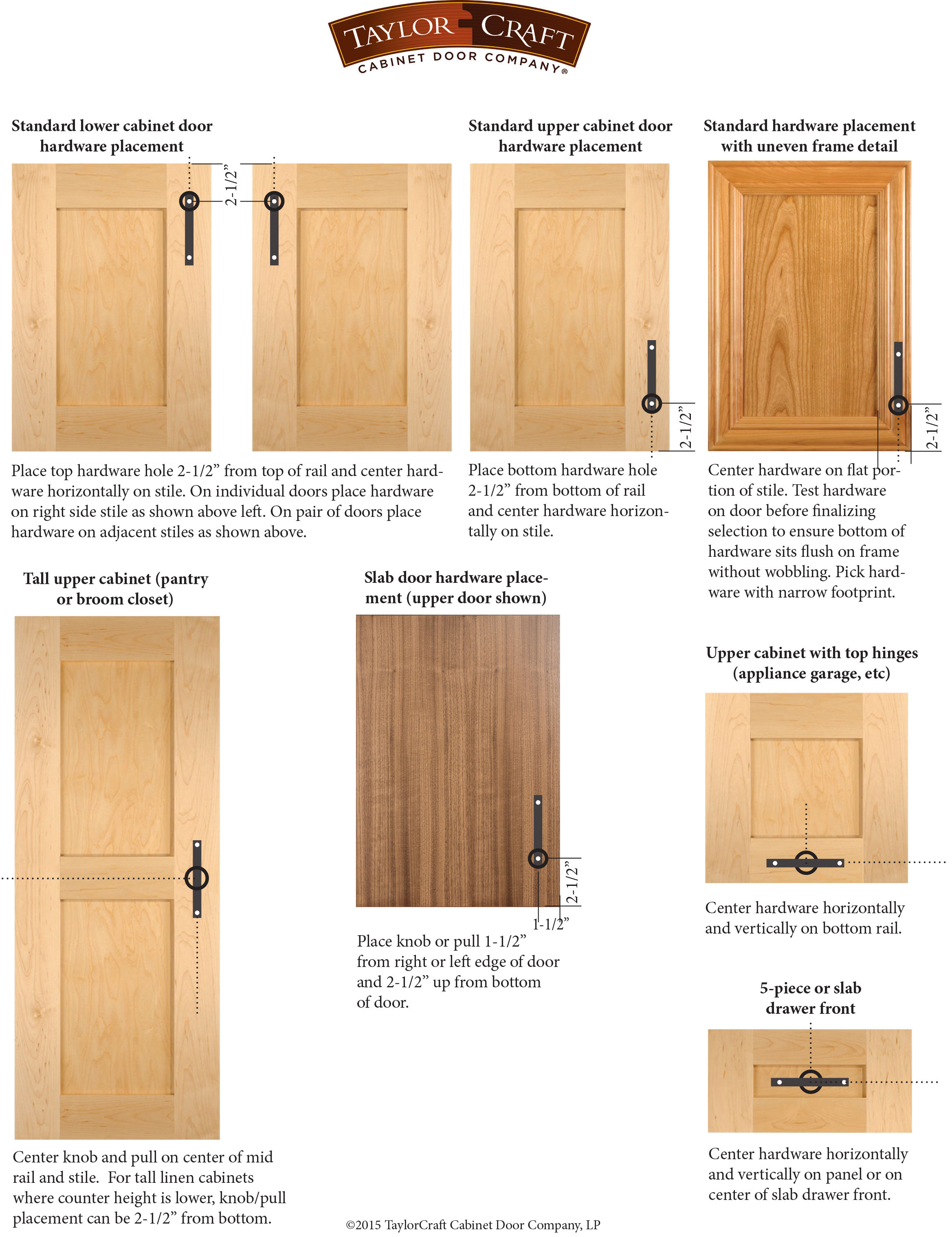 Where to Put Knobs On Cabinet Doors Fresh Cabinet Door Hardware Placement Guidelines Taylorcraft