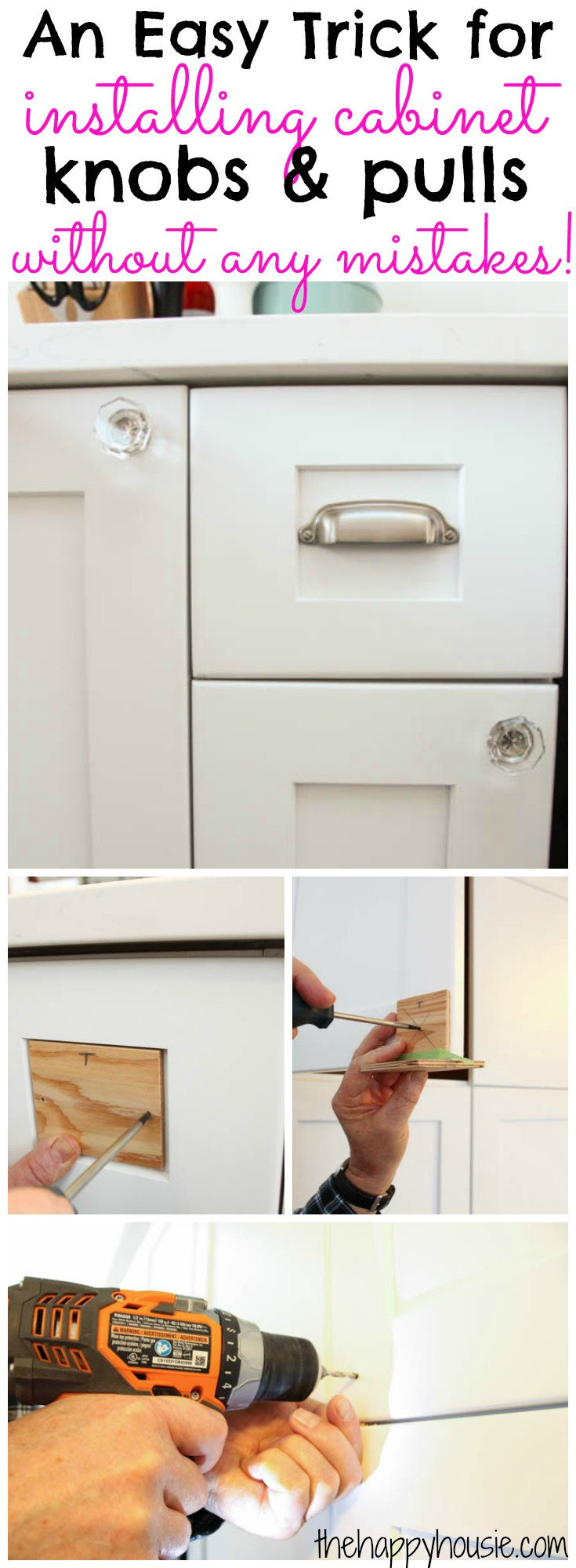 Where to Put Knobs On Cabinet Doors Lovely How to Install Cabinet Knobs with A Template A Trick for