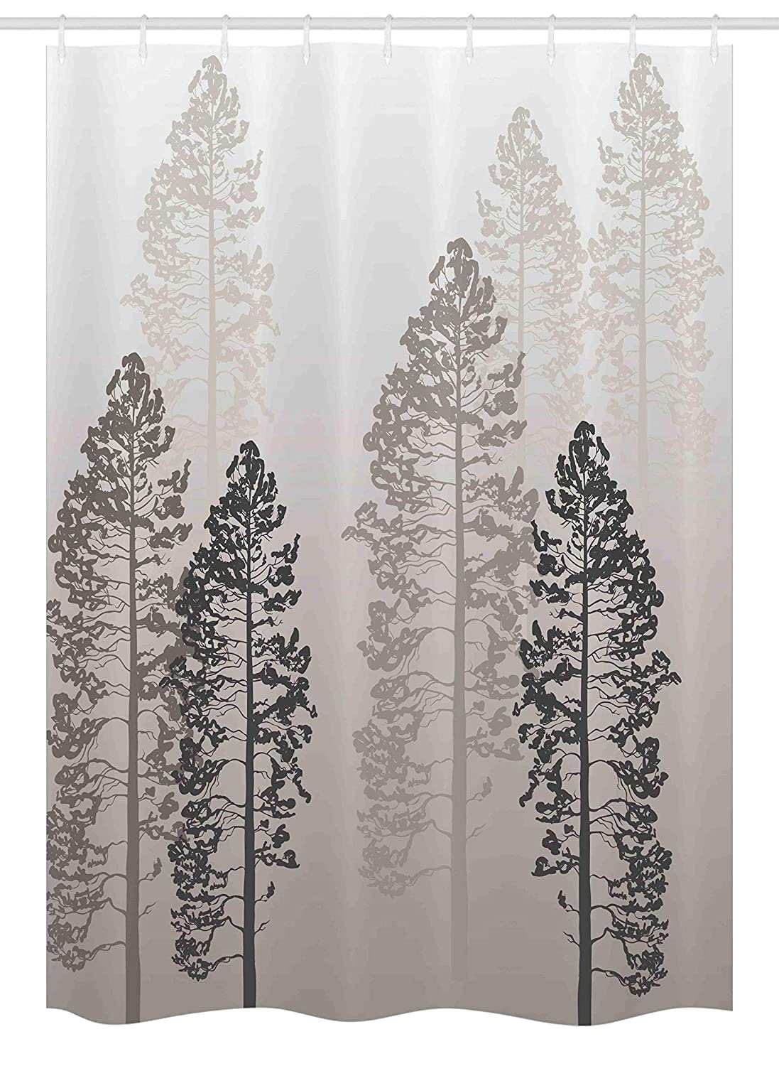 Wildlife Bathroom Decor Fresh Ambesonne Country Stall Shower Curtain Pine Trees In the