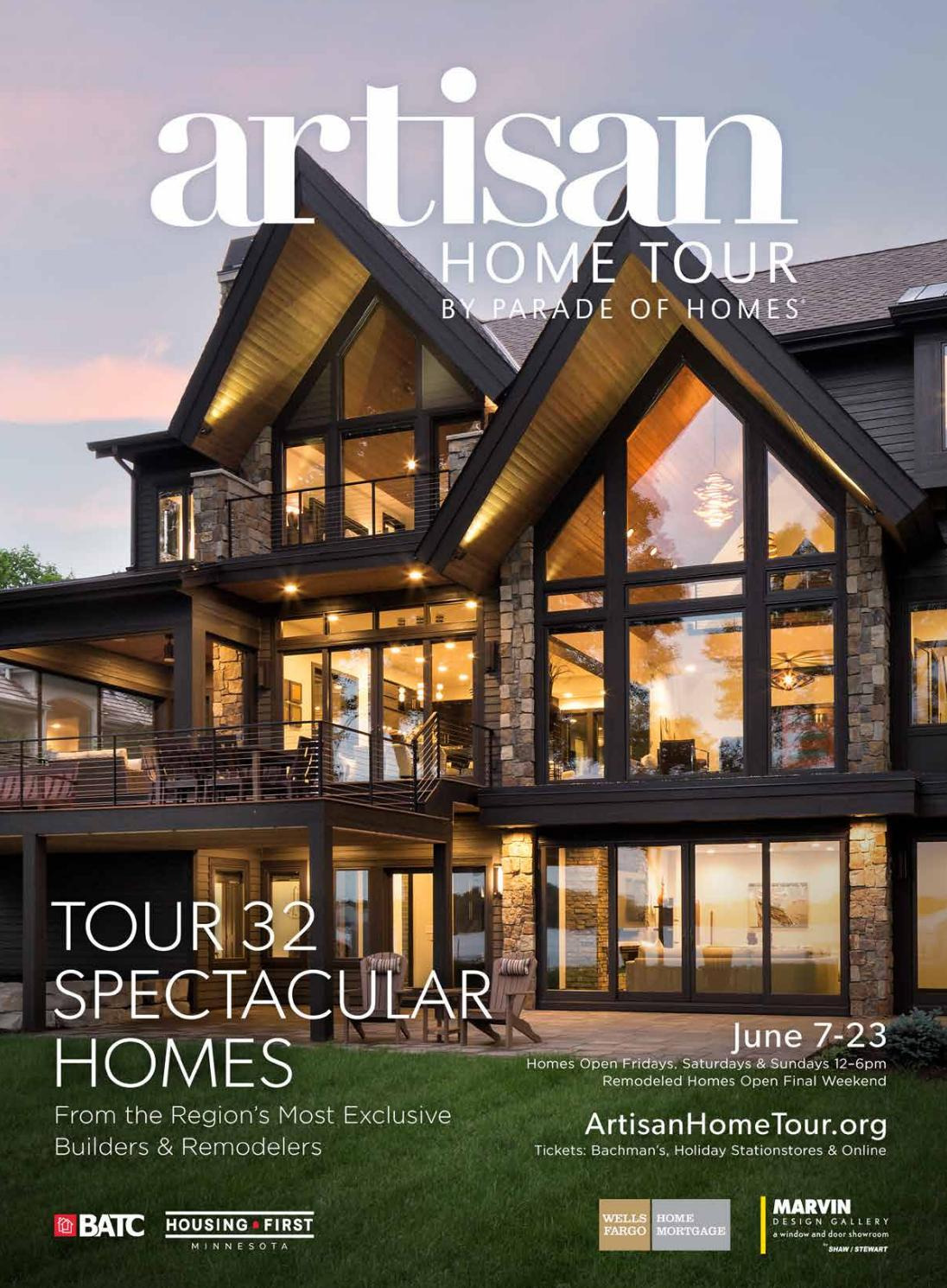 Wonderful Houses Around the World Unique Artisan Home tour by Parade Of Homes 2019 Guidebook by