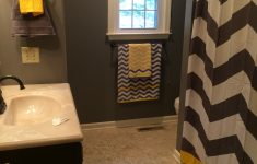 Yellow And Grey Bathroom Decor Inspirational Gray And Yellow Chevron Bathroom Substitute The Yellow