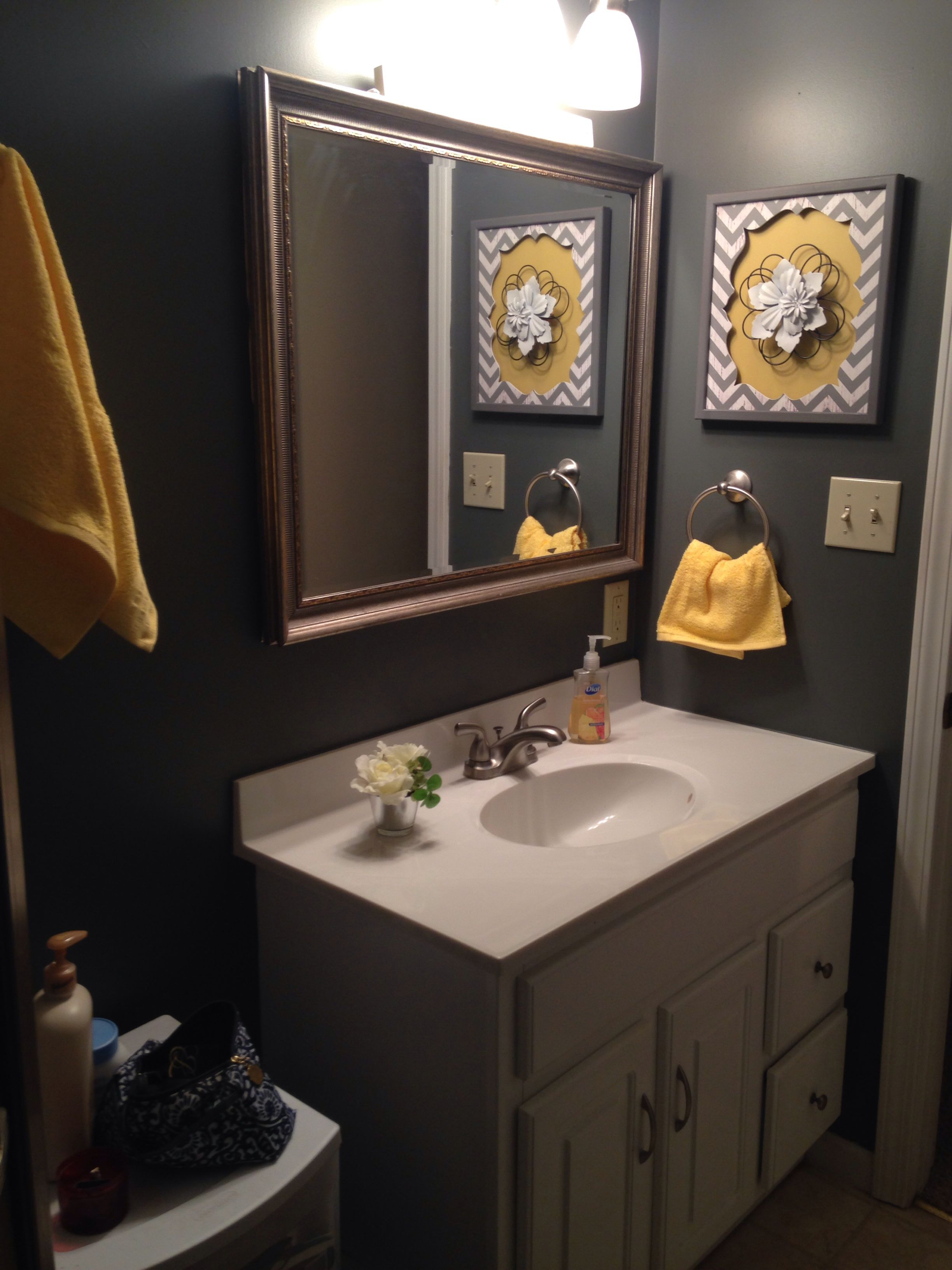 Yellow and Grey Bathroom Decor Inspirational Grey and Yellow Bathroom Needs A Pretty Floral Shower