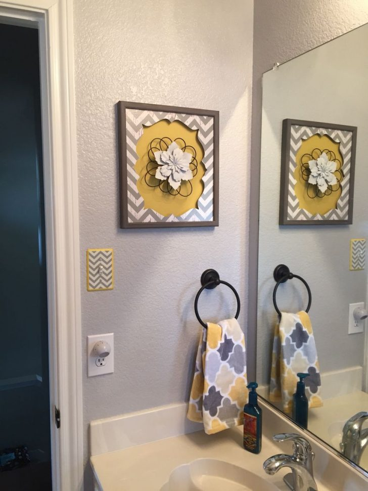 Yellow and Grey Bathroom Decor 2020