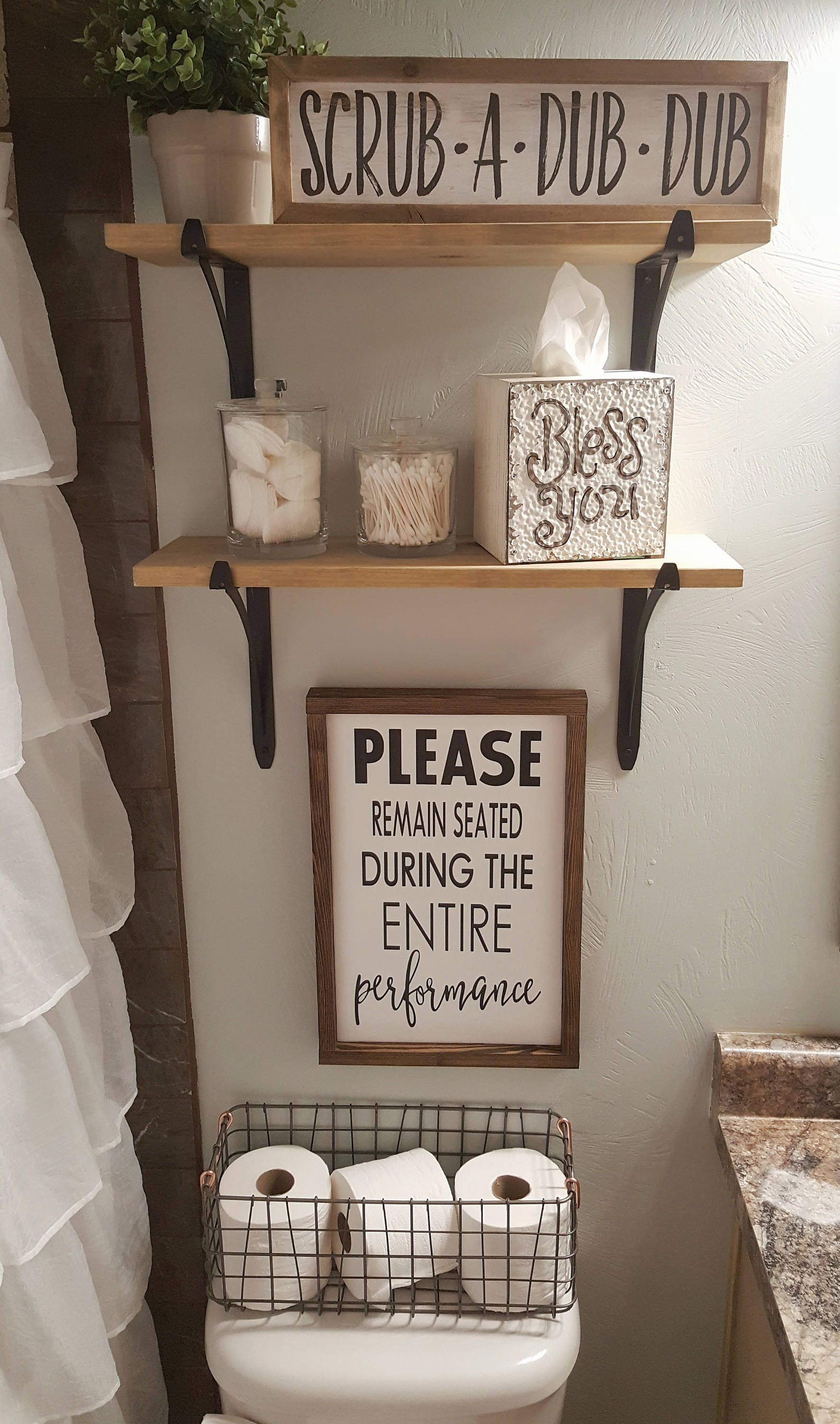 Bathroom Decor Signs Lovely Funny Bathroom Decor Please Remain Seated During Entire